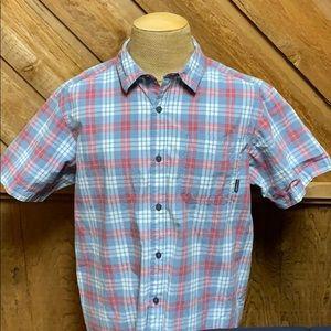 Columbia cotton plaid short sleeve shirt